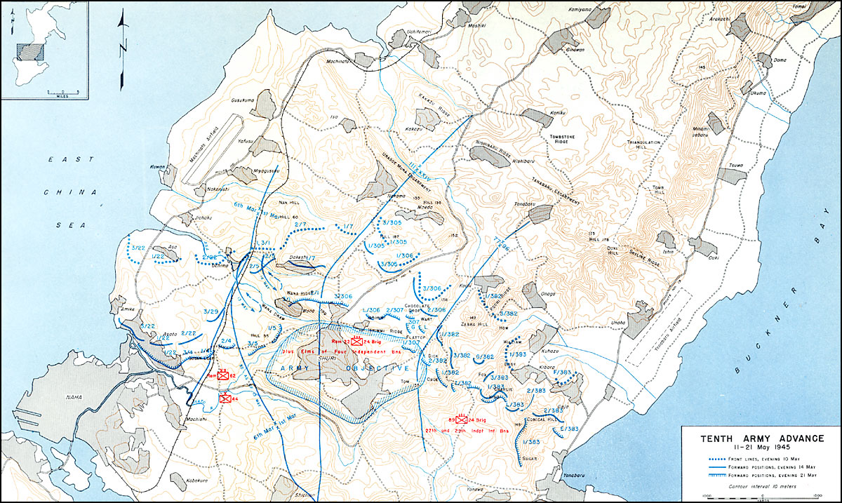 HyperWar US Army In WWII Okinawa The Last Battle - Us military base locations map