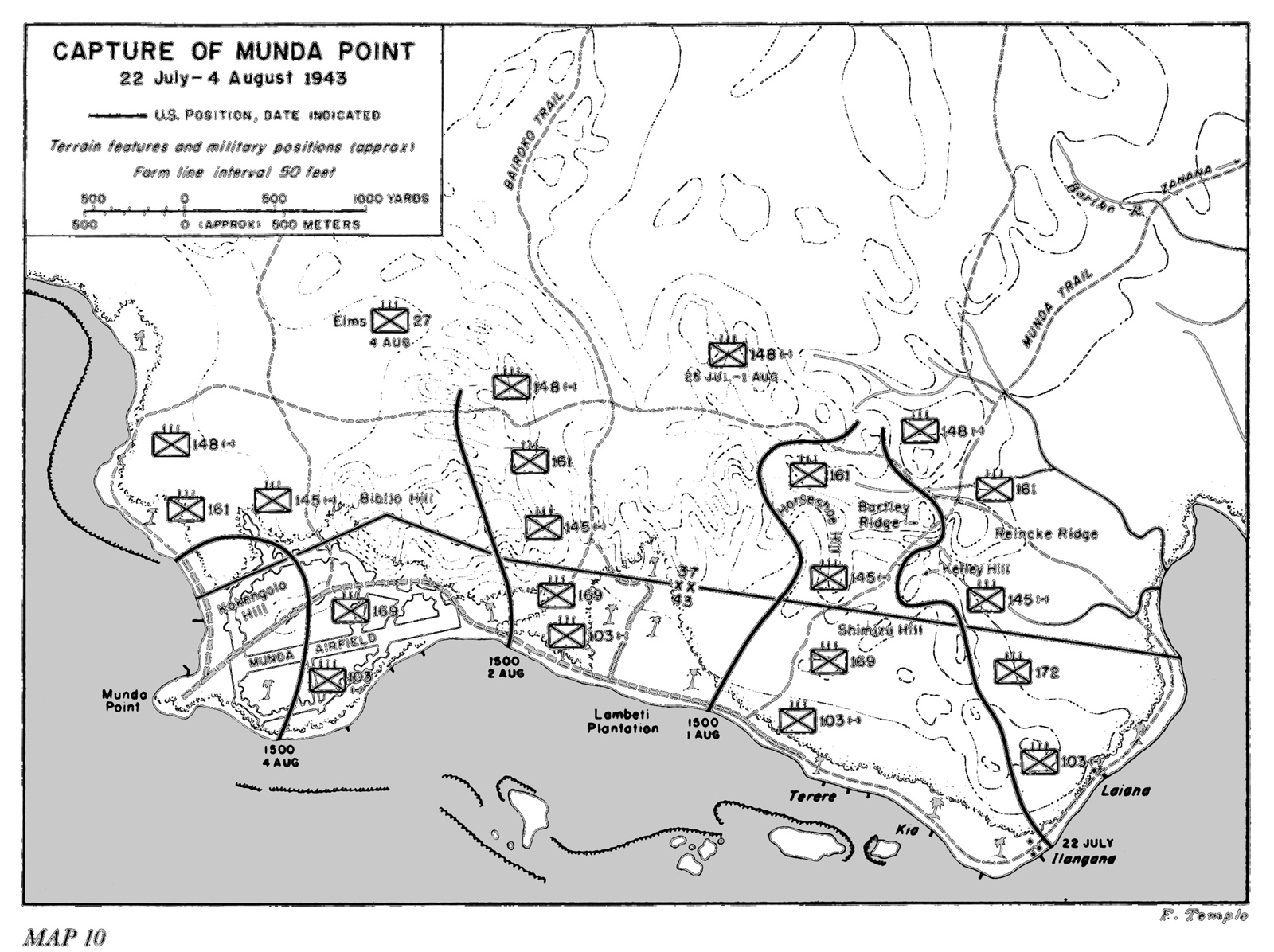 Map 10. Capture of Munda Point
