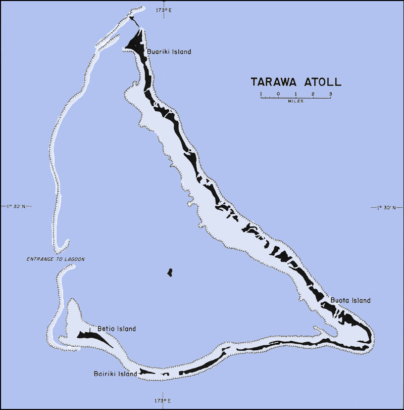 Map Of Tarawa Atoll Images - tarawa atoll map