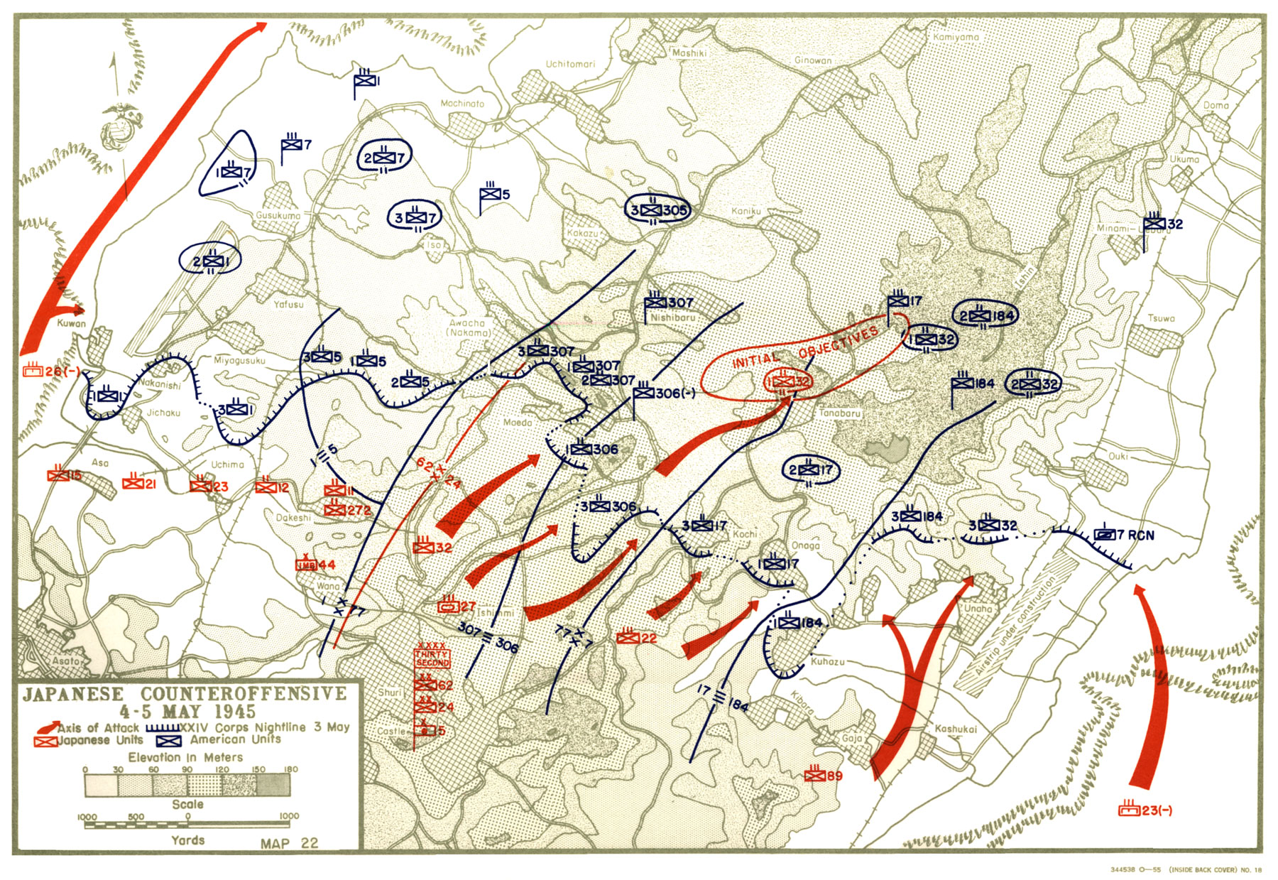 D Line Drawings Locations : Hyperwar usmc monograph okinawa victory in the pacific