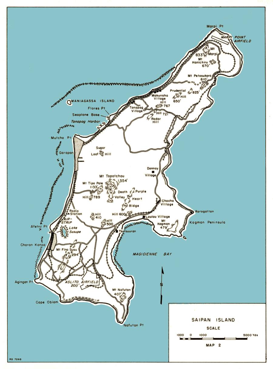 Saipan Island World Map