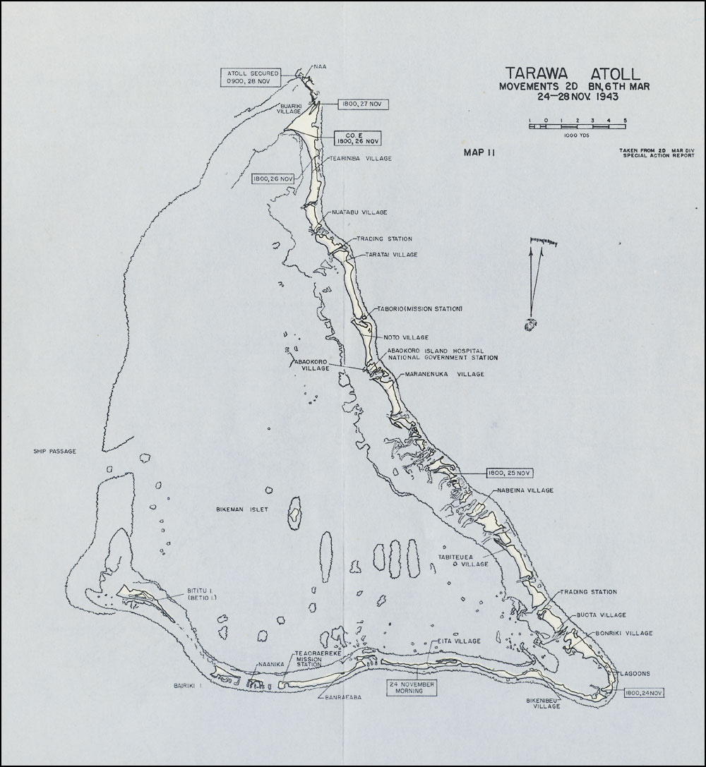 HyperWar: The Battle for Tarawa [Chapter 6: Mission Completed] Tarawa Map