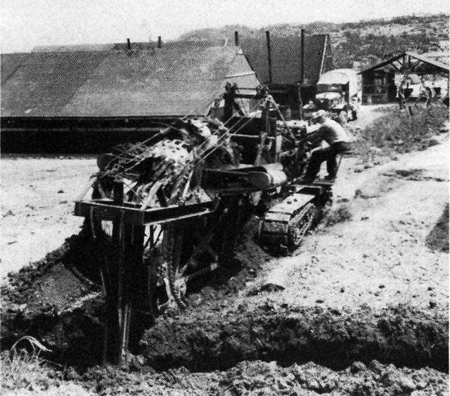 portable trenching machine