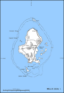 Map: Wallis (Uea) Island
