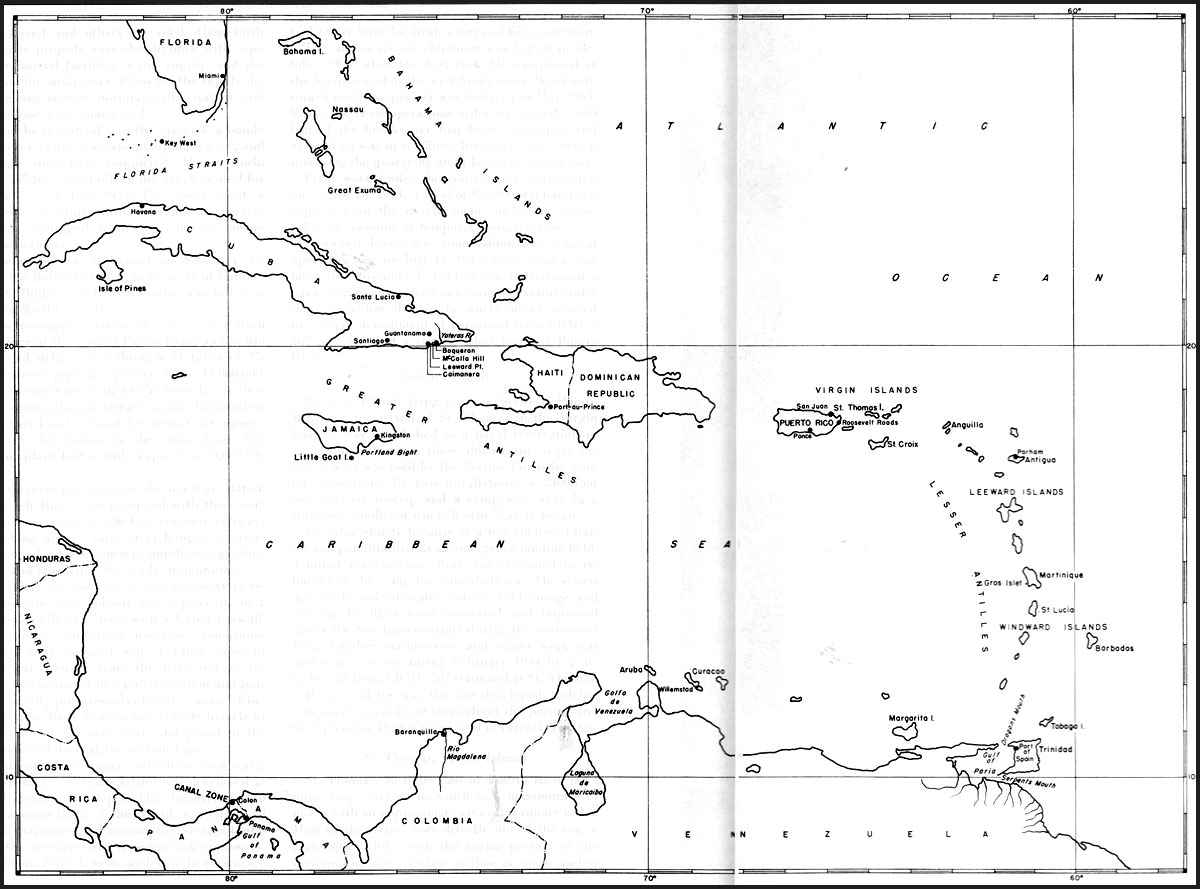 Map: Caribbean Area