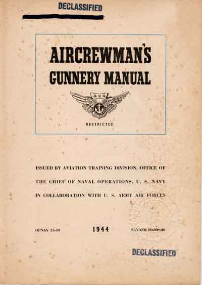 Hyperwar aircrewman 39 s gunnery manual for Table 6 gunnery