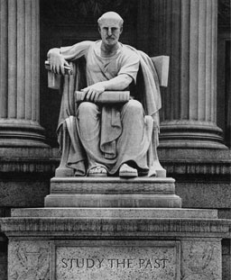 Statue at Entrance to National Archives Building, Washington, D.C.
