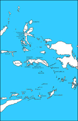 Fig. 7.--Islands and peoples of the Moluccas.