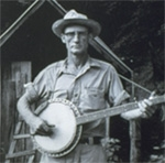 Picture of Roscoe Holcomb by John Cohen.