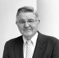A picture of William Friday, President Emeritus of the University of North Carolina at Chapel Hill.