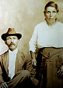 David Martin (son of Sam Martin) and wife Adeline Jeffries (c. 1890)
