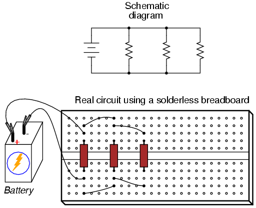 how to make series connection in breadboard