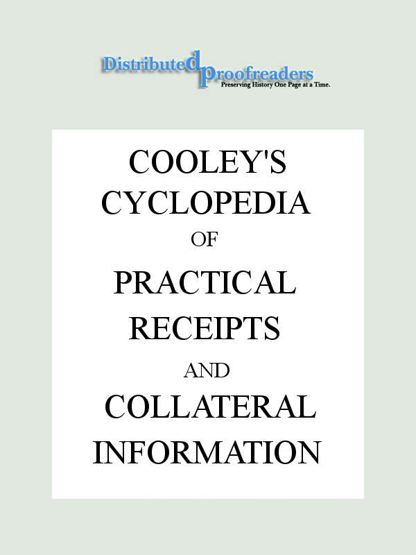 916e2c855 The Project Gutenberg eBook of Cooley s Cyclopædia
