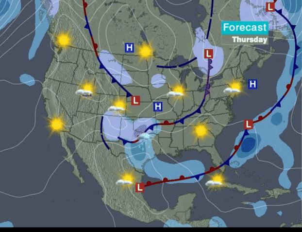 Weather Forecast Map : Weather and evacuation routes