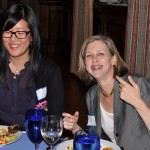 Helen Kwong and Dana at the awards banquet in Philly, 2011. (From Chris Hardesty)