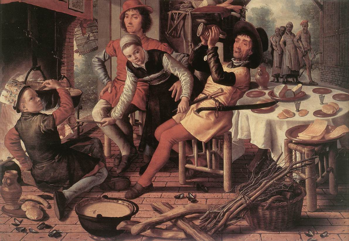 Webmuseum aertsen pieter peasants by the hearth for Art culture and cuisine ancient and medieval gastronomy