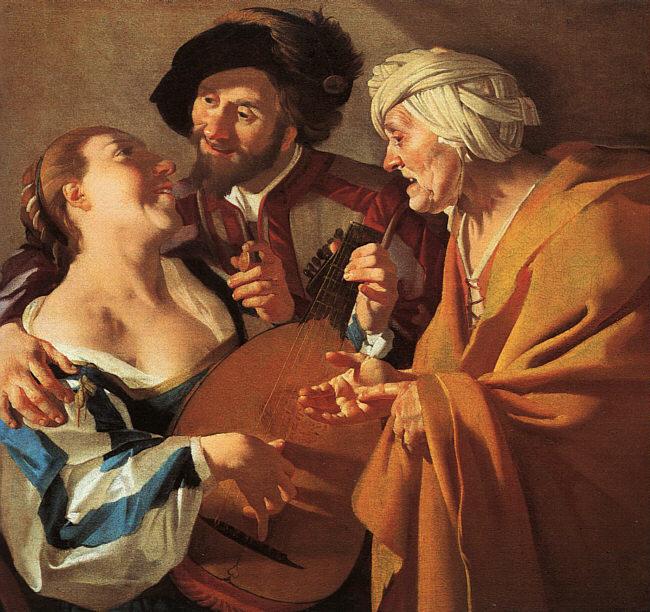 'La alcahueta'(1622) de Dirck van Baburen