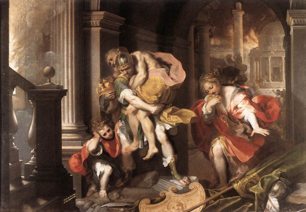WebMuseum: Barocci, Federico: Aeneas' Flight from Troy