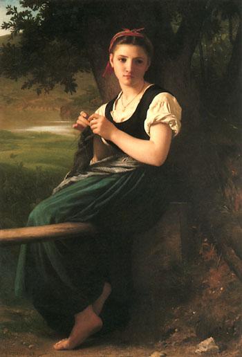 "Bouguereau, ""The Knitting Girl"" (1869)"