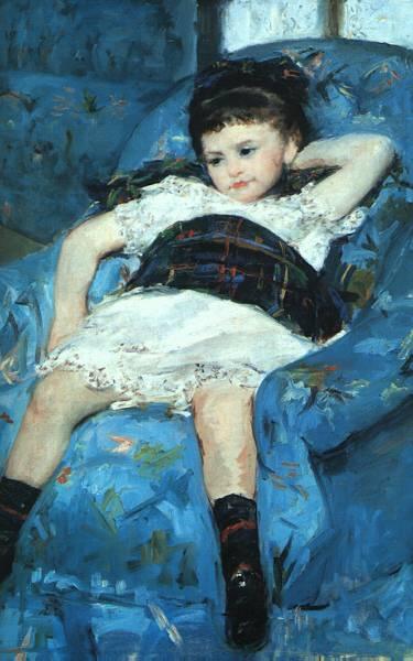 La mujer en el arte Blue-armchair