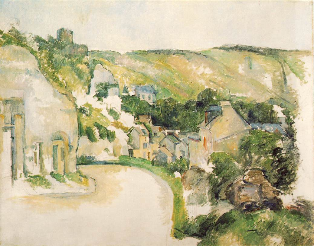 A Turn in the Road at La Roche-Guyon by Paul Cezanne