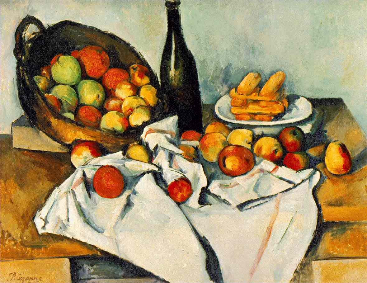 Cézanne: Still life with apples