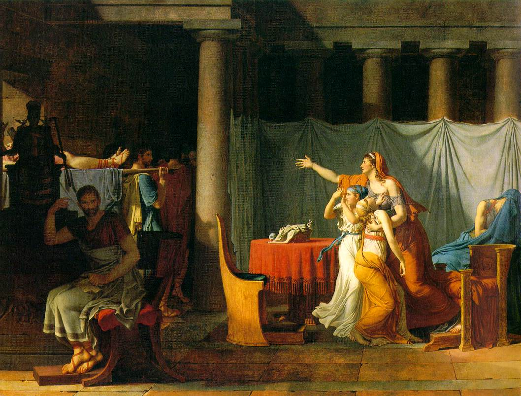 jaques louis david mordern artist essay The quintessential neoclassical painter, david's monumental canvases were  perhaps the final triumph of traditional history painting socrates, marat, horatii.