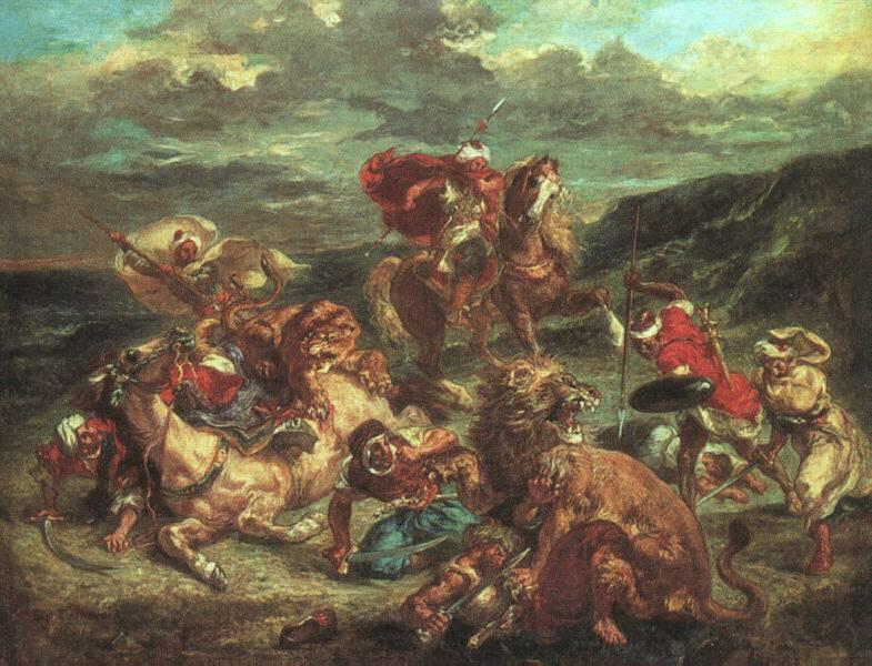 1860-61 (80 Kb); Oil on canvas; Art Institute of Chicago: www.ibiblio.org/wm/paint/auth/delacroix