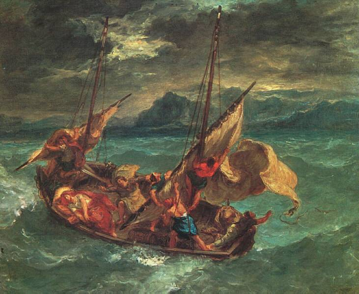 Not pc storm on the sea of galilee rembrandt delacroixs painting of the same subject some publicscrutiny Images