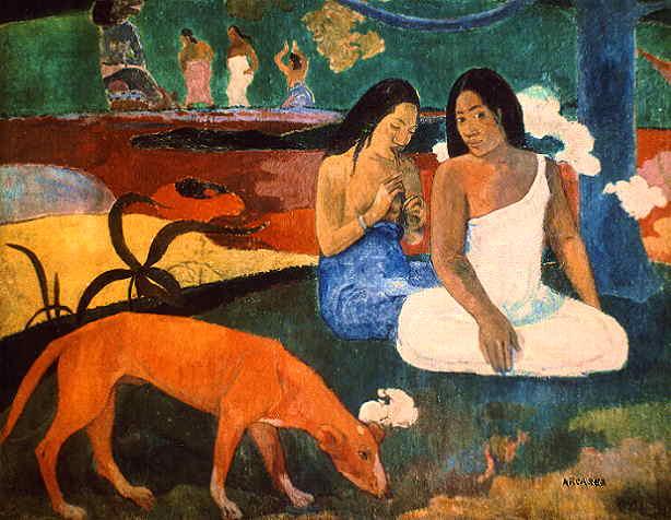 """Paul Gauguin, """"Arearea"""" ou """"O cão vermelho"""", 1892"""