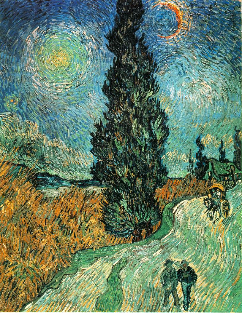 WebMuseum: Gogh, Vincent van: Fields and Cypresses