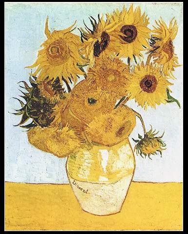 sunflowers or vase with twelve