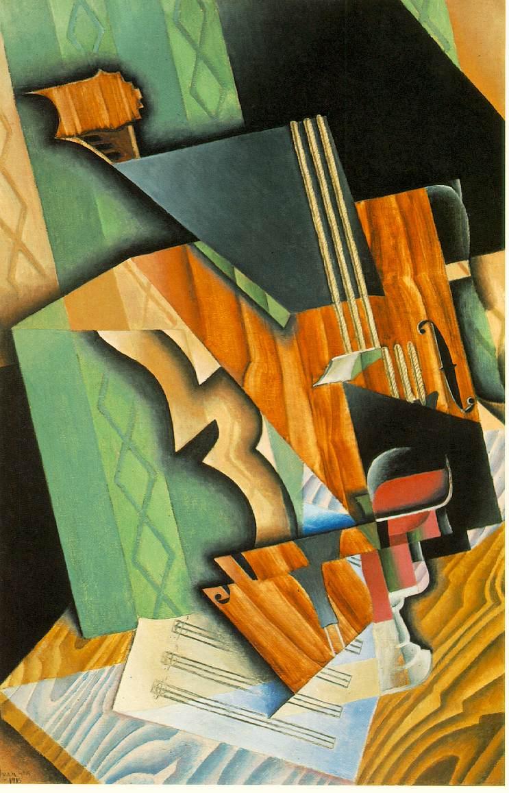 نقاشی به سبک کوبیسم --- نقاشی و رنگ آمیزی به سبک کوبیسم