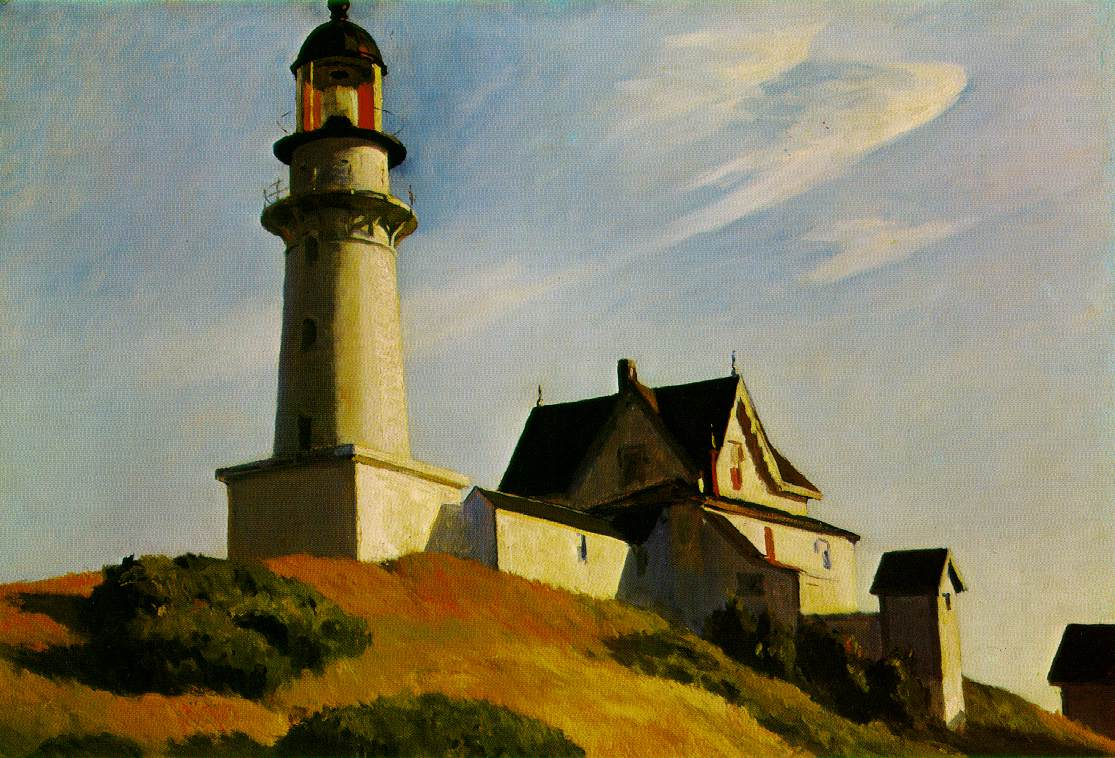 Edward Hopper painting of the lighthouse at Two Lights