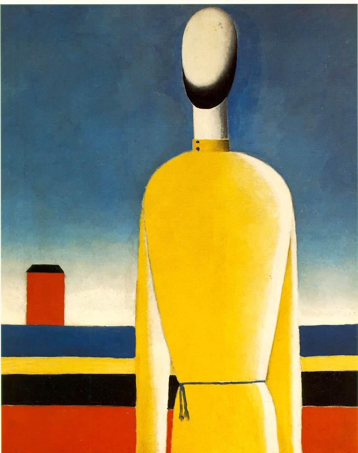 """Complex Presentiment: Half-Figure in a Yellow Shirt"" (1928-32), Kasimir Malevich"