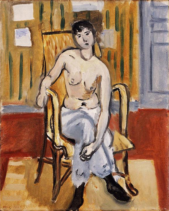 "Henri Matisse, ""Seated Figure, Tan Room"" (1918)"