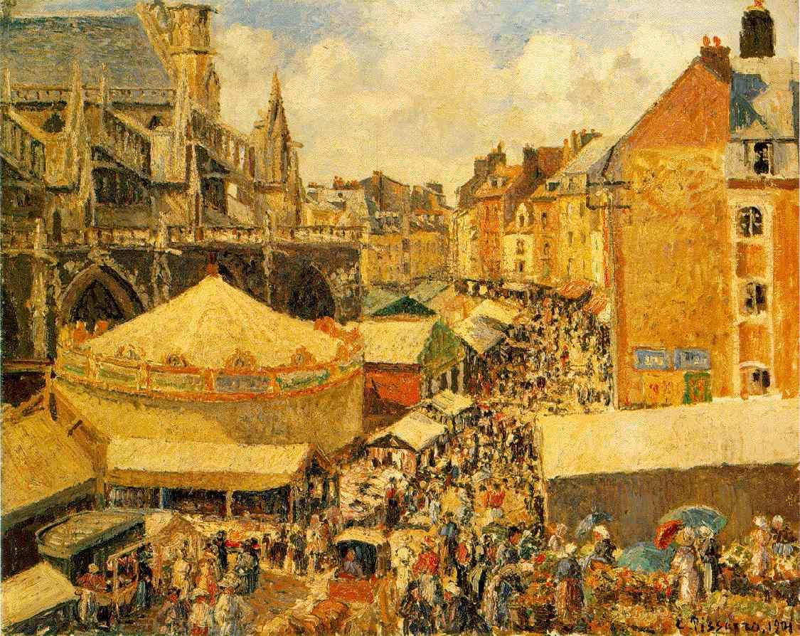 La foire de Dieppe par Camille Pissaro.