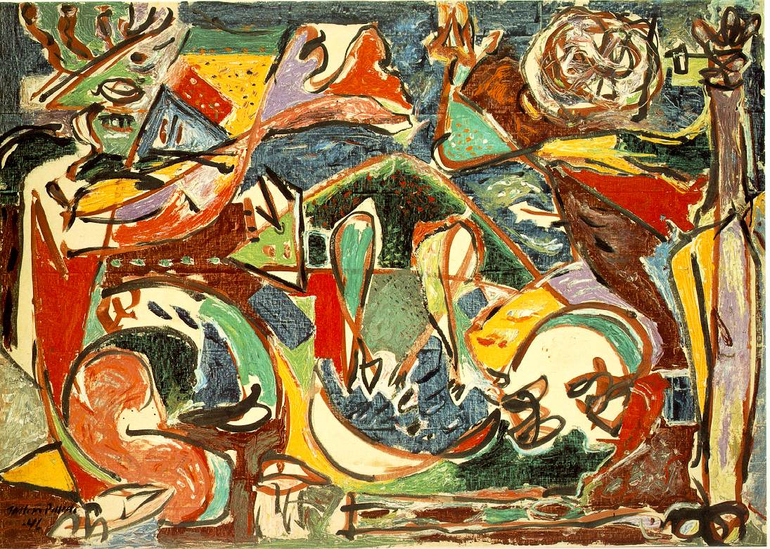 Jackson Pollock Paintings For Living Room