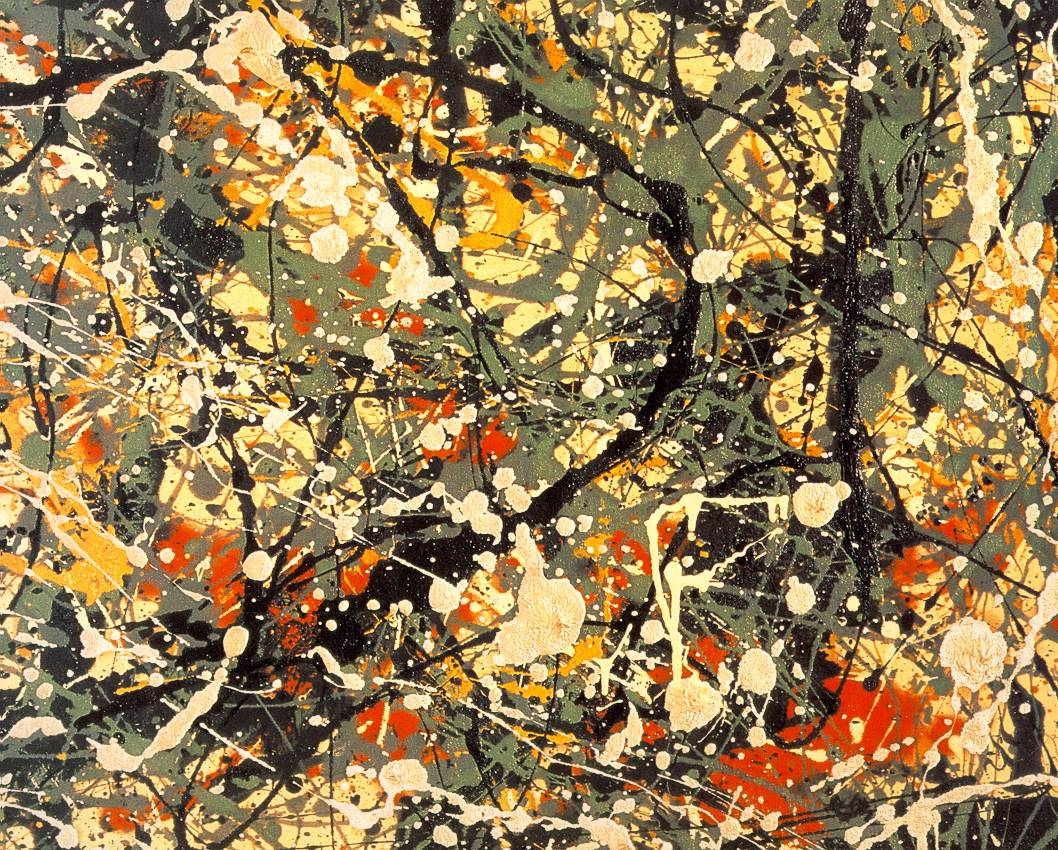 Tate britain 39 s painting now exhibition how can painting for Mural jackson pollock