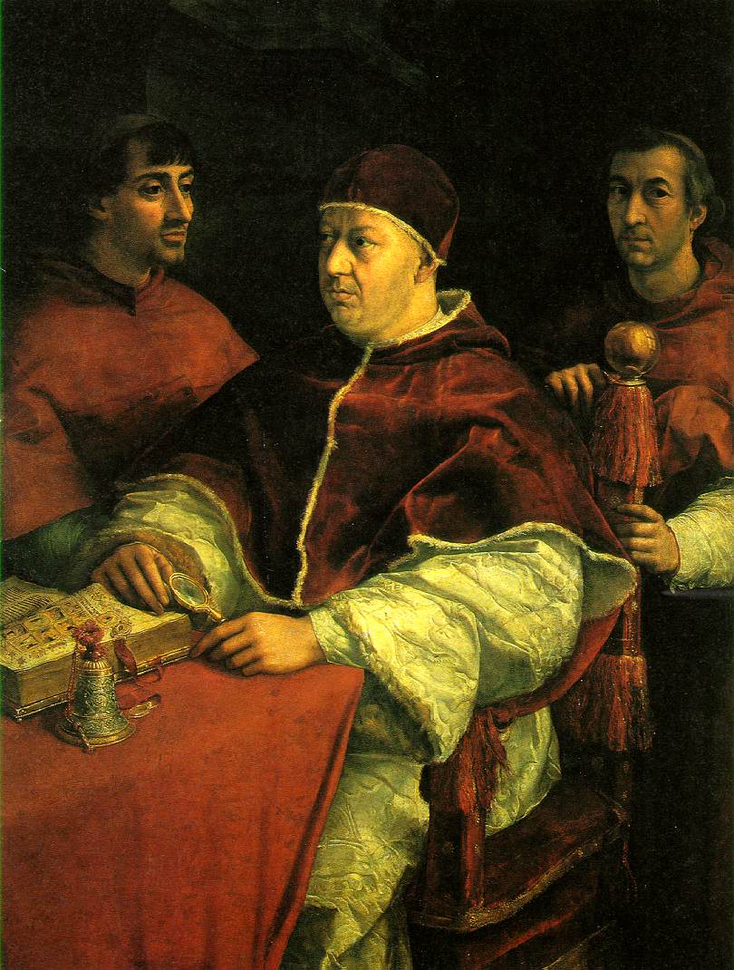 WebMuseum: Raphael: Pope Leo X with two cardinals
