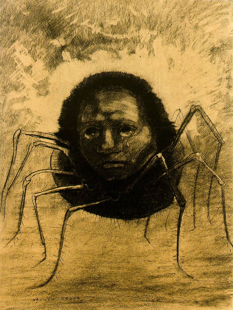 the crying spider de Odilon Redon. e por que diabos você ainda usa o Internet Explorer?