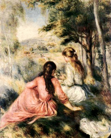 Holy place please remain silent in the meadow 1890 by for Paintings by renoir