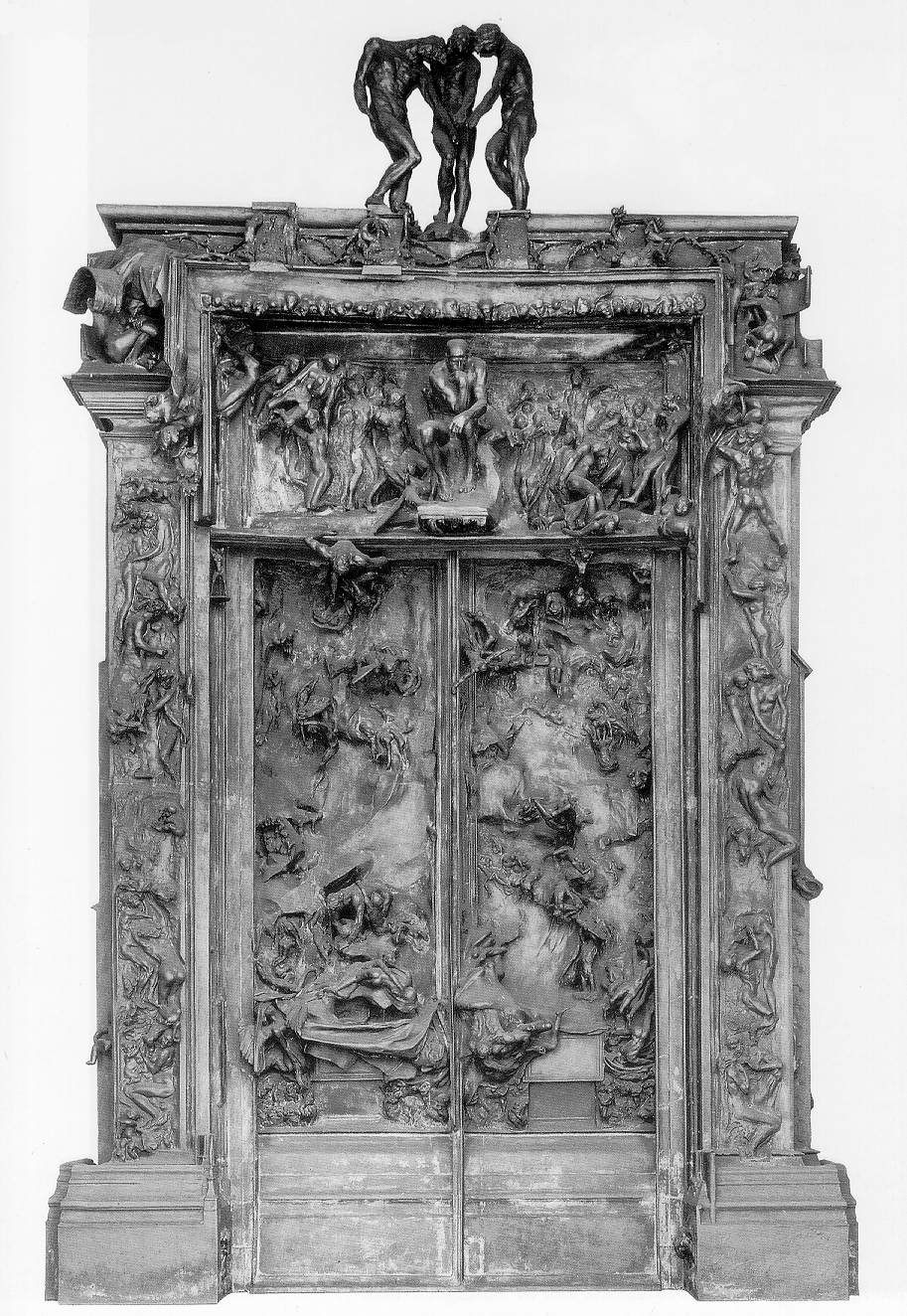 the gates of hell 1880 1917 260 kb bronze 18 x 12 ft rodin museum ... Rodin Gates Of Hell