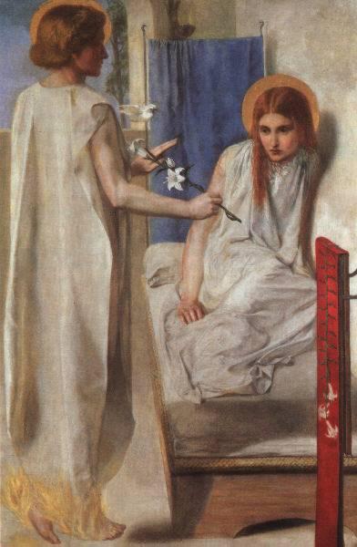 Ecce Ancilla Domini (The Annunciation) 1850 by Dante Gabriel Rossetti