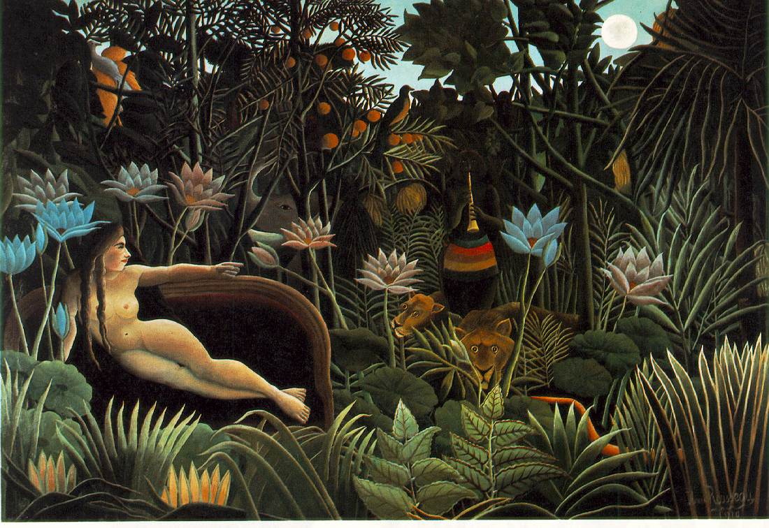 The Dream - Portrait by Henri Rousseau