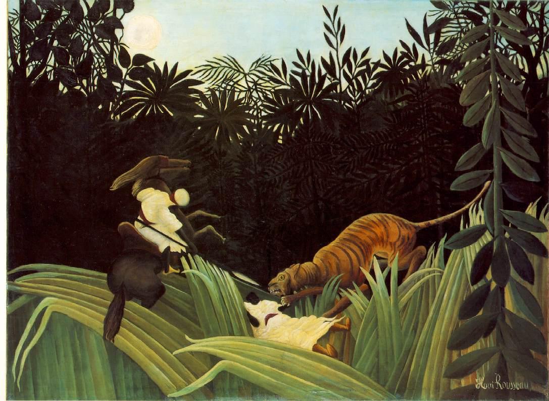 Henri Rousseau  (Anri Ruso) - Page 4 Rousseau.eclaireur-tigre