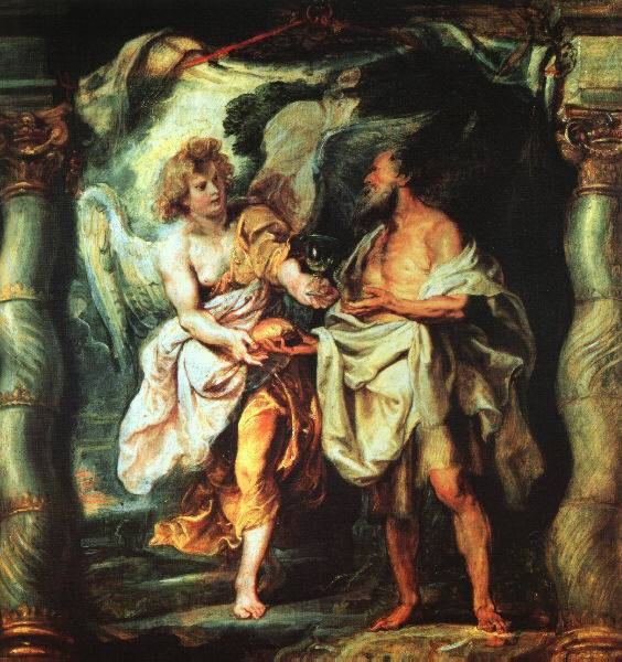 The Prophet Elijah Receiving Bread  and Water from an Angel Peter Paul Rubens