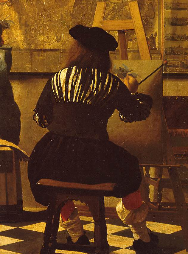 Vermeer detail from the art of painting artist for The art of painting
