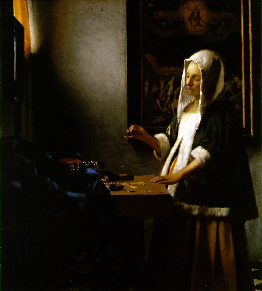 Vermeer: Woman Holding a Balance