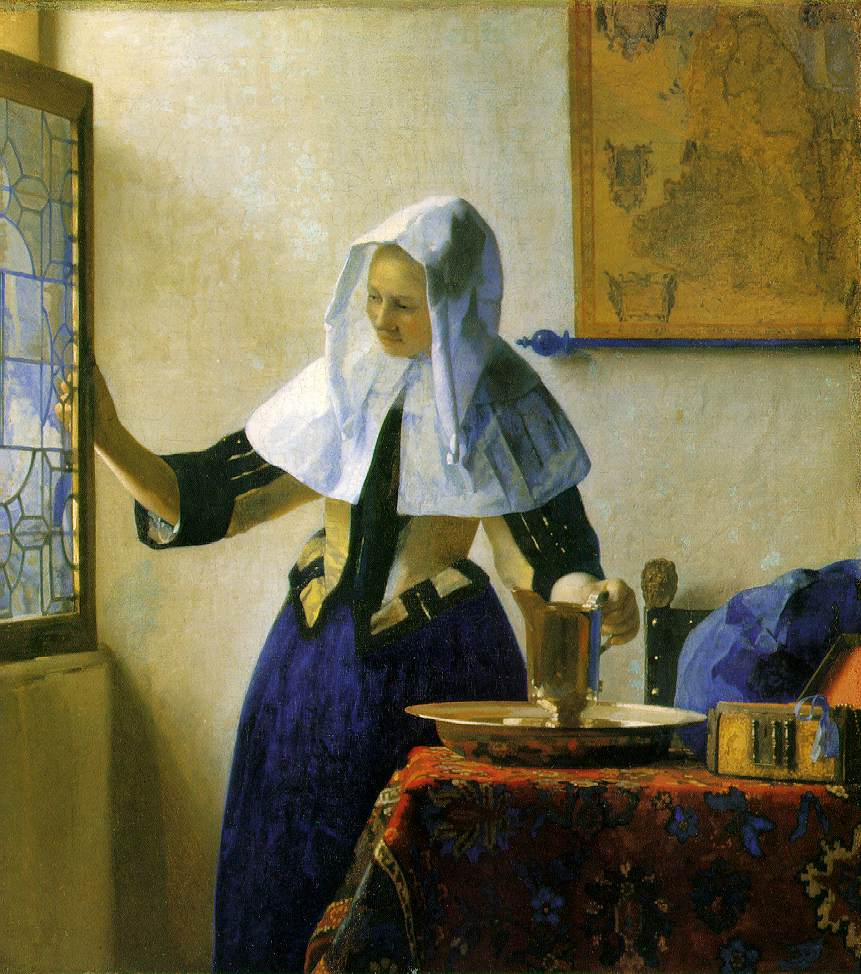 Vermeer: Young Woman with a Water Pitcher